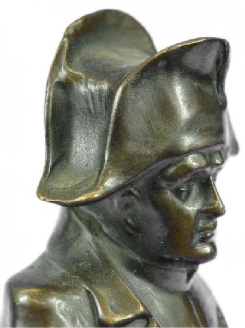 Napoleon Bonaparte France Emperor Bronze Bust Sculpture - 4