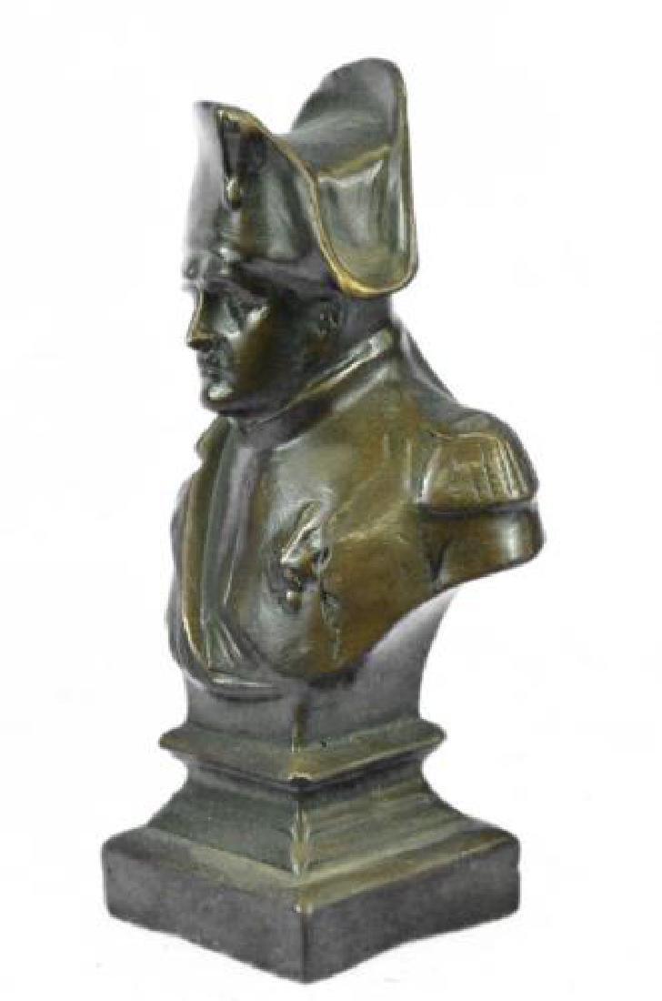 Napoleon Bonaparte France Emperor Bronze Bust Sculpture - 5