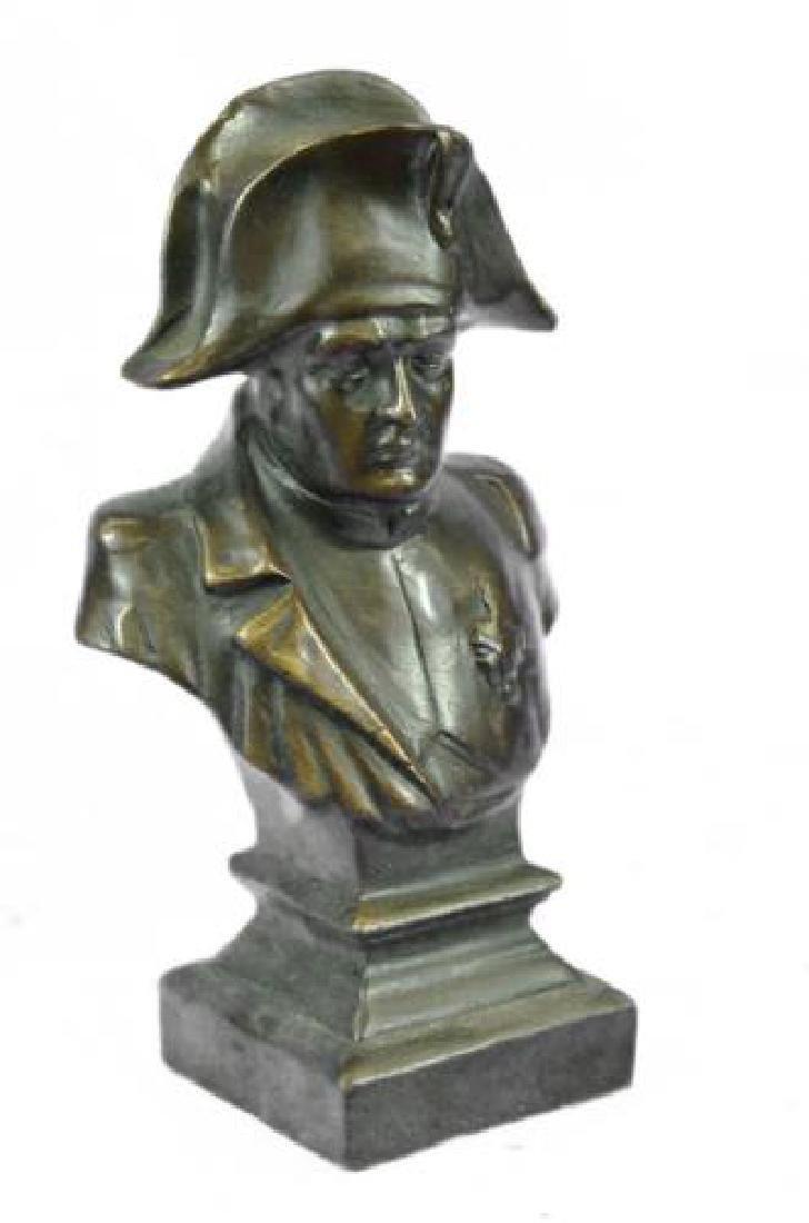 Napoleon Bonaparte France Emperor Bronze Bust Sculpture - 9