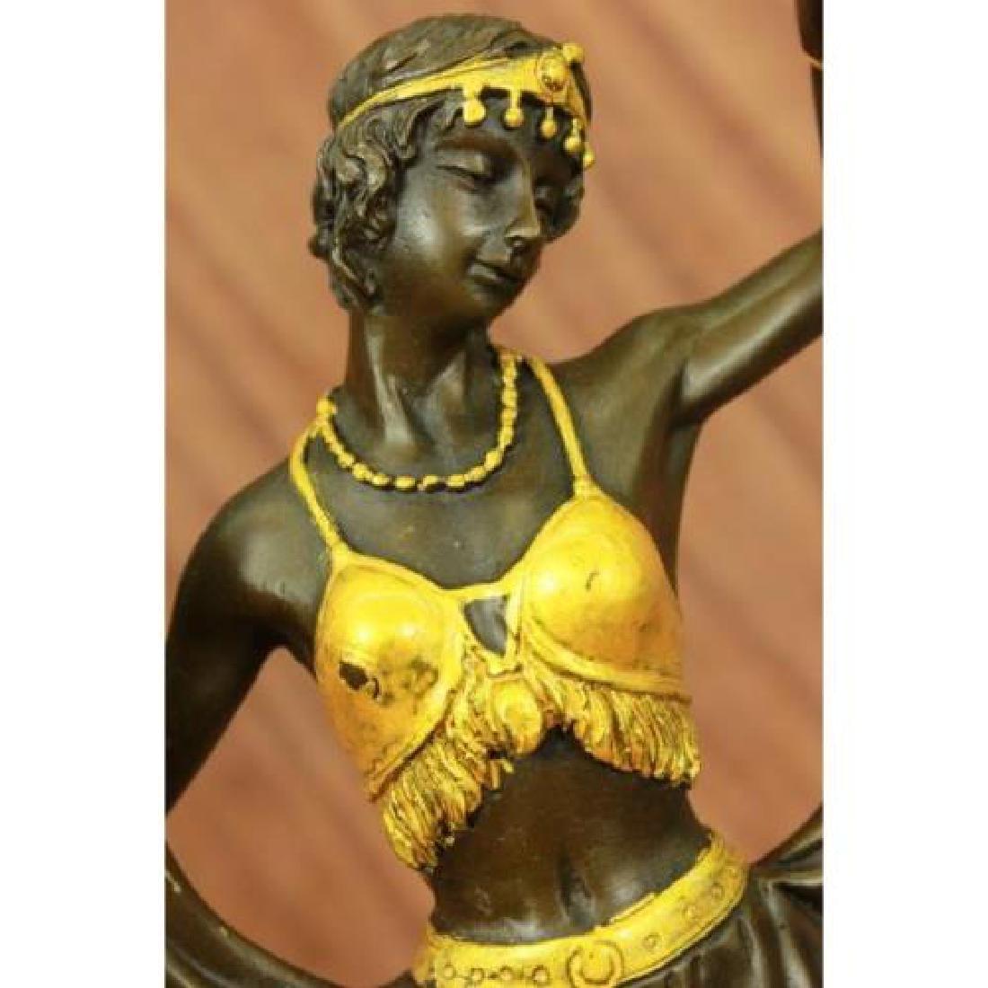 Arabian Girl With Lifting Skirt on Rug Bronze Sculpture - 2