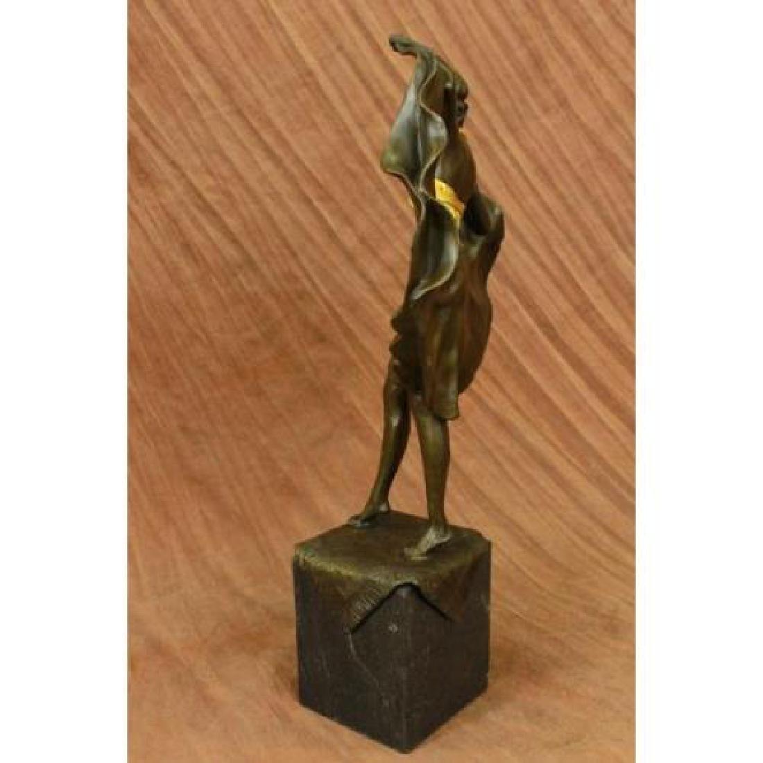 Arabian Girl With Lifting Skirt on Rug Bronze Sculpture - 5