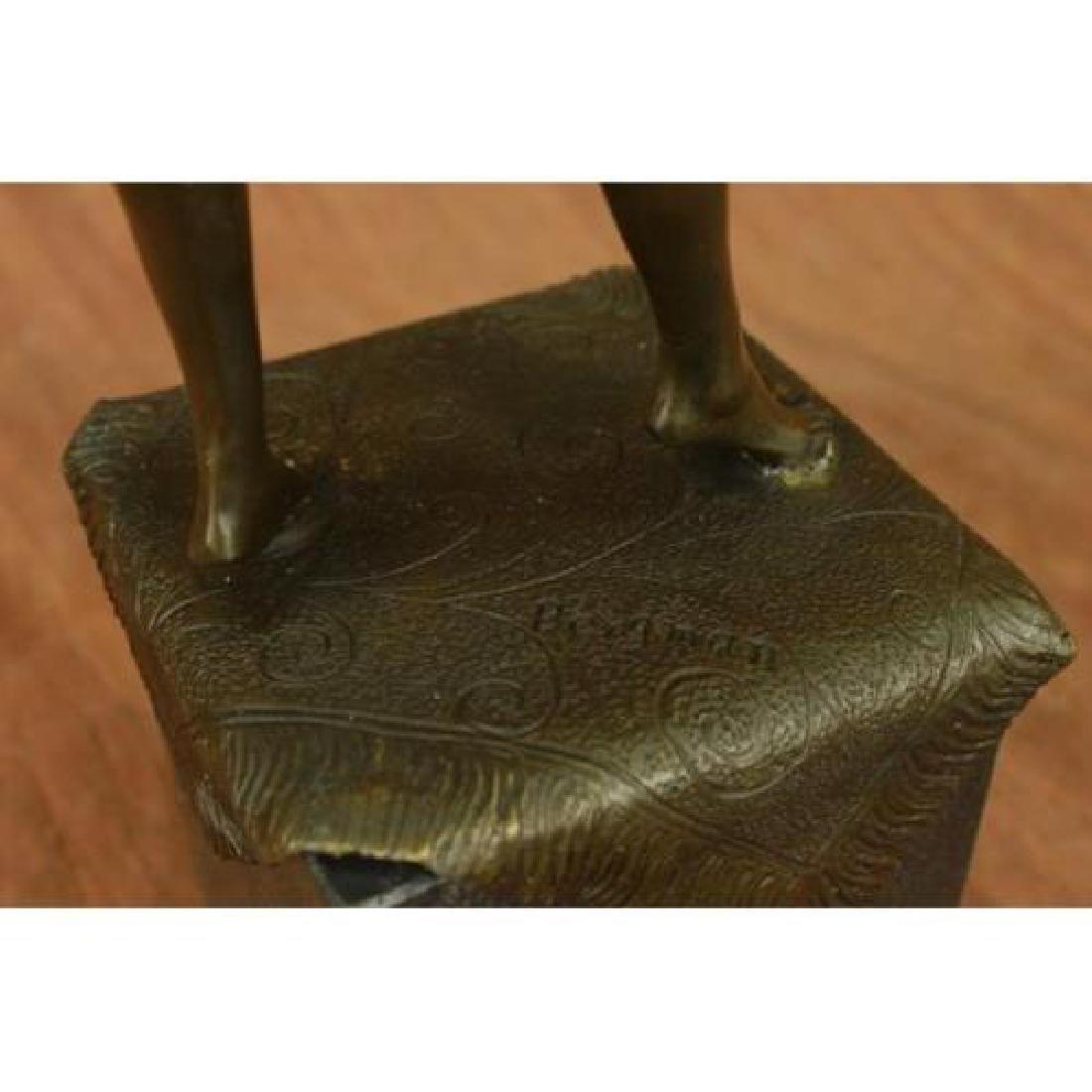 Arabian Girl With Lifting Skirt on Rug Bronze Sculpture - 6