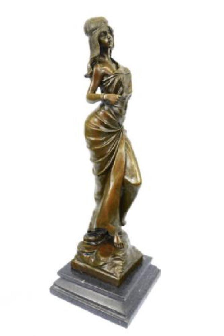 Native American Girl Bronze Sculpture - 6