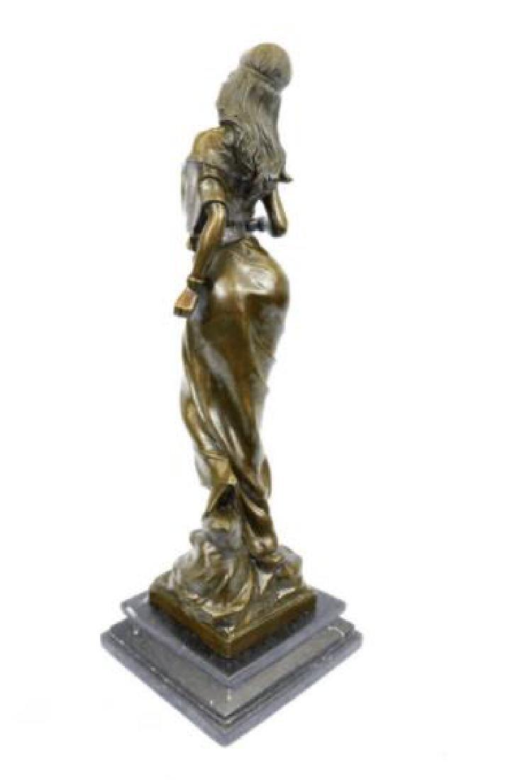 Native American Girl Bronze Sculpture - 8