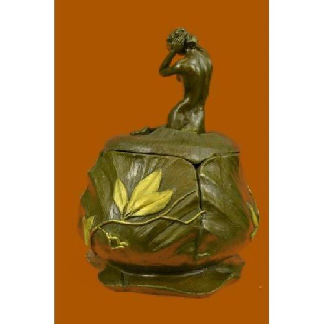 Jewelry Box Bronze Figurine - 2