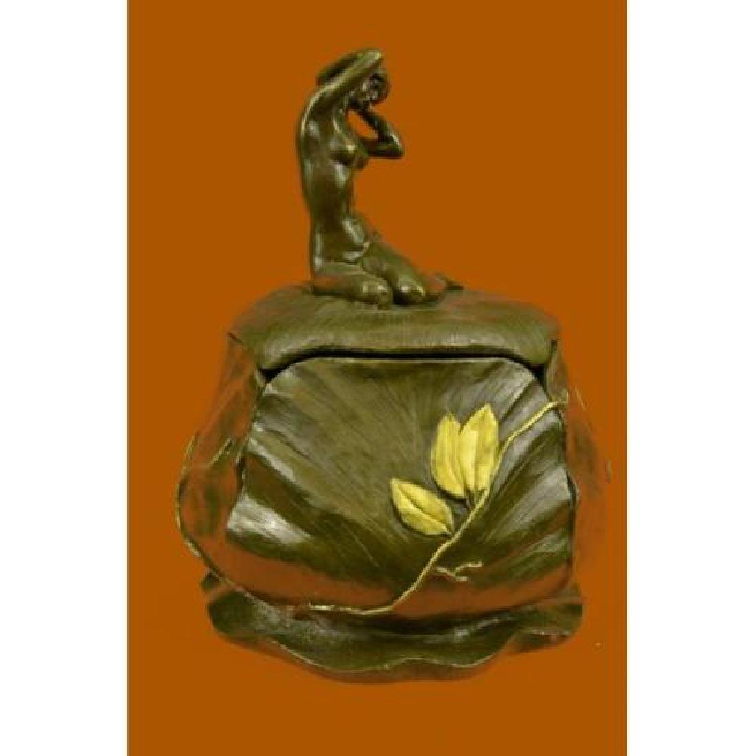 Jewelry Box Bronze Figurine - 3