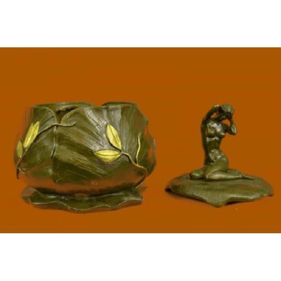 Jewelry Box Bronze Figurine - 4