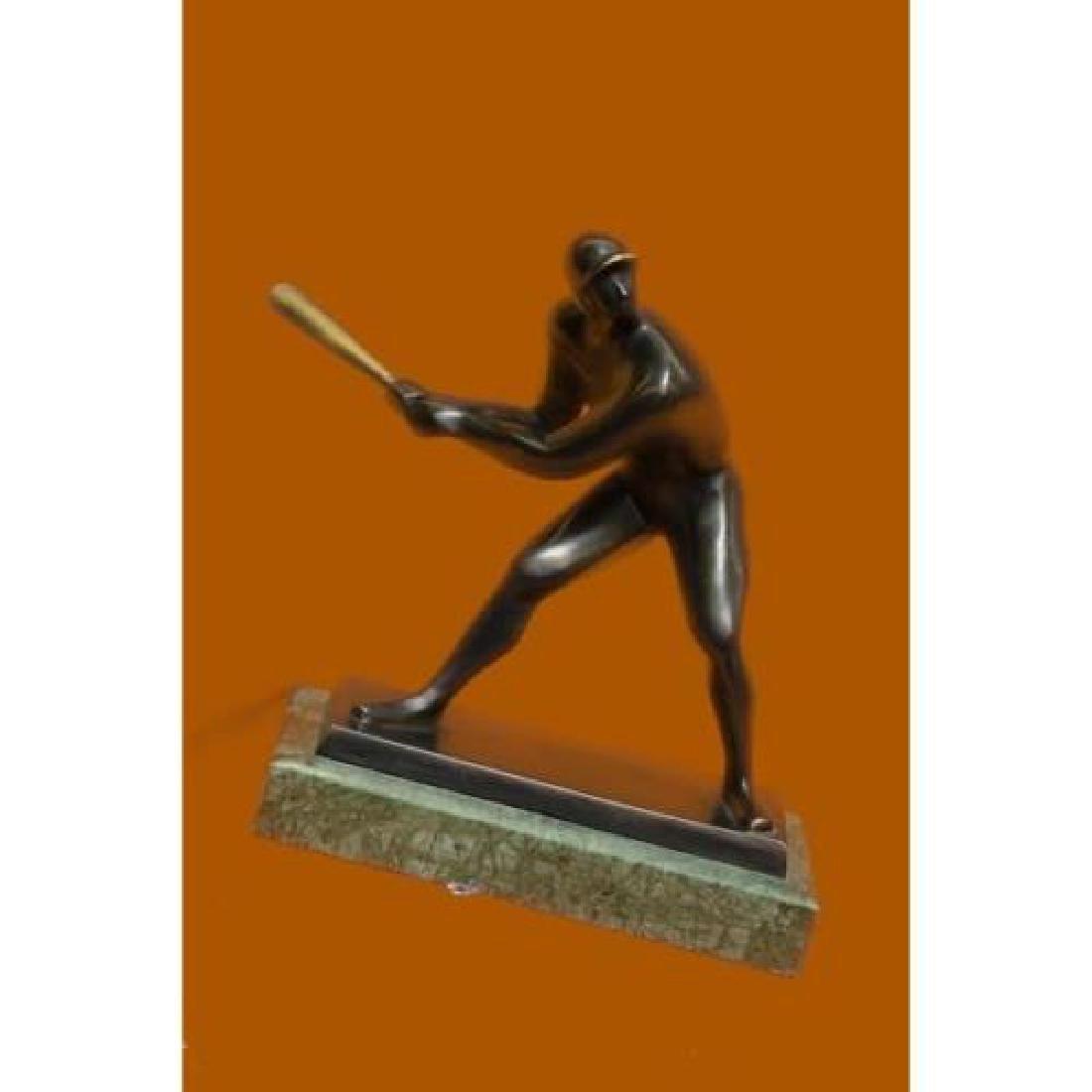 Mid Century Baseball Player Bronze Sculpture - 2