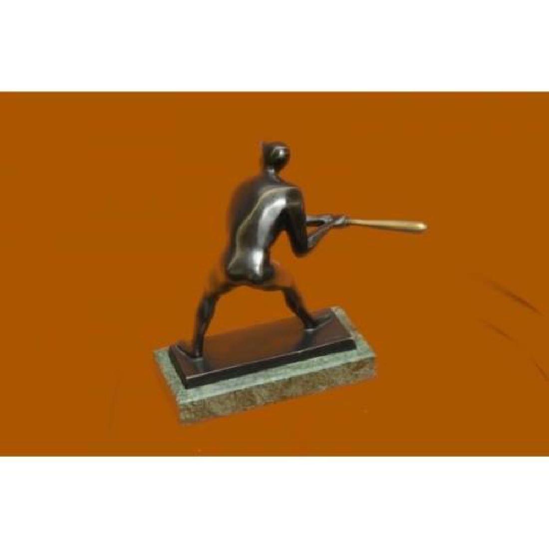 Mid Century Baseball Player Bronze Sculpture - 3