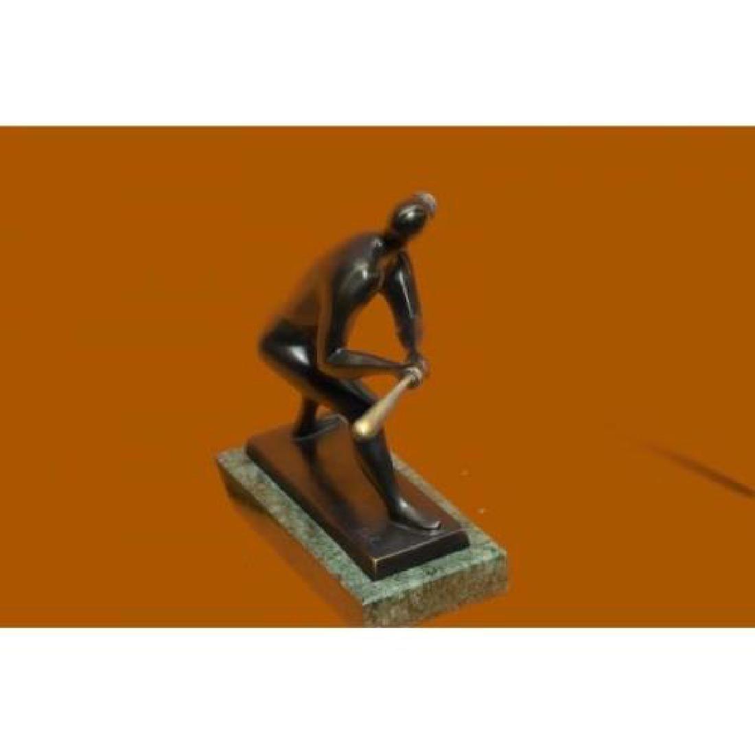 Mid Century Baseball Player Bronze Sculpture - 5