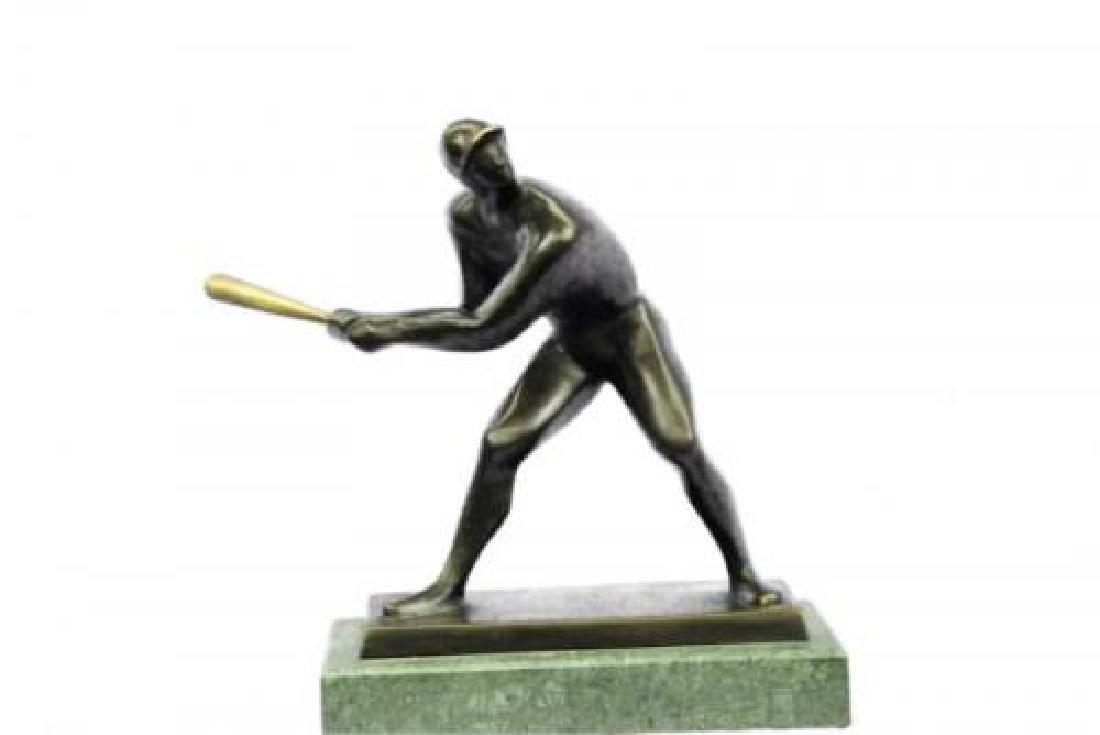 Mid Century Baseball Player Bronze Sculpture - 7