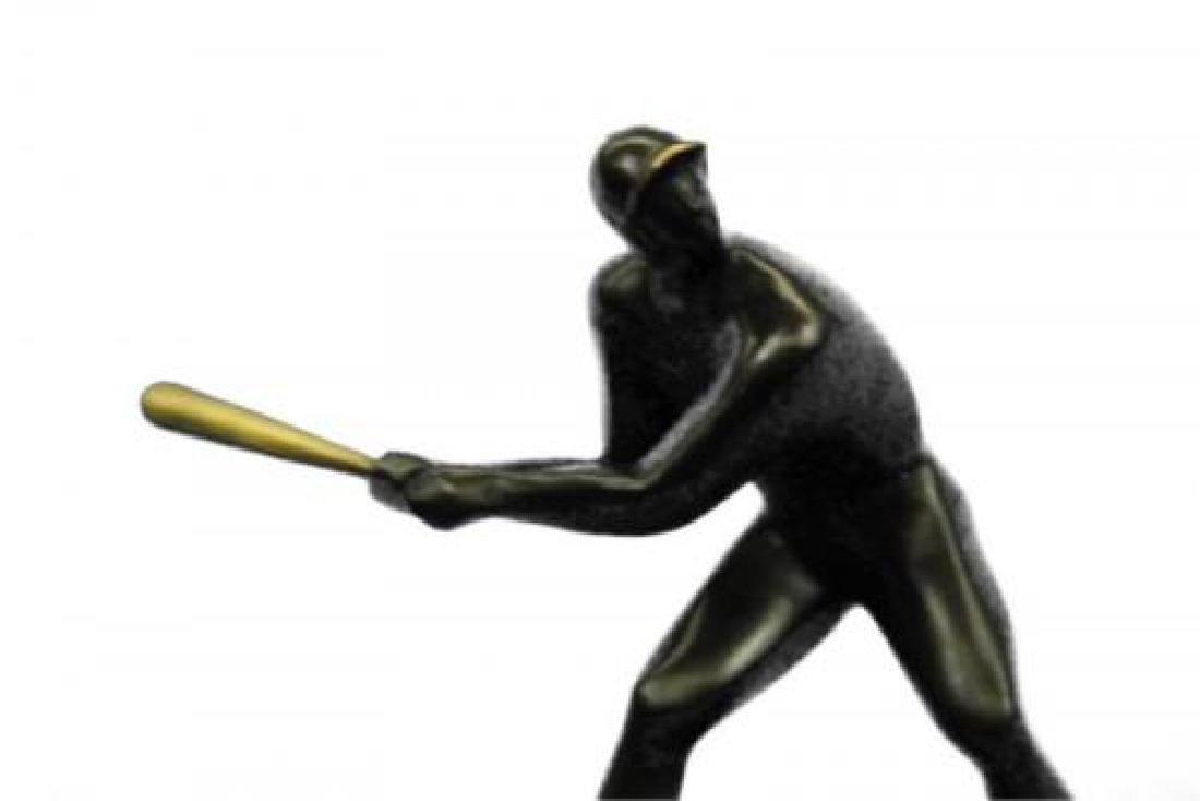 Mid Century Baseball Player Bronze Sculpture - 8
