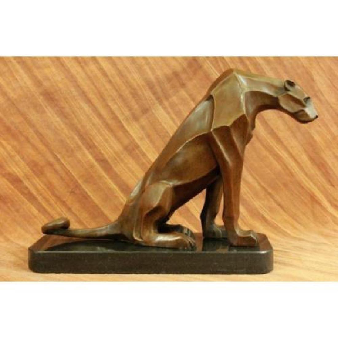 Hot Cast Cougar Bronze Sculpture