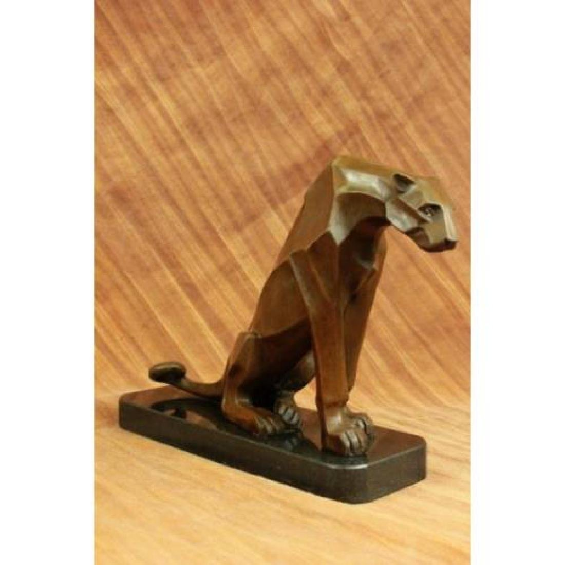 Hot Cast Cougar Bronze Sculpture - 2