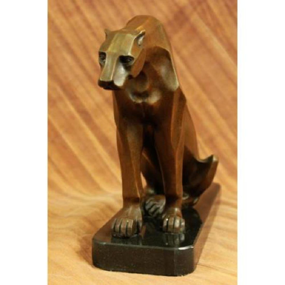 Hot Cast Cougar Bronze Sculpture - 3