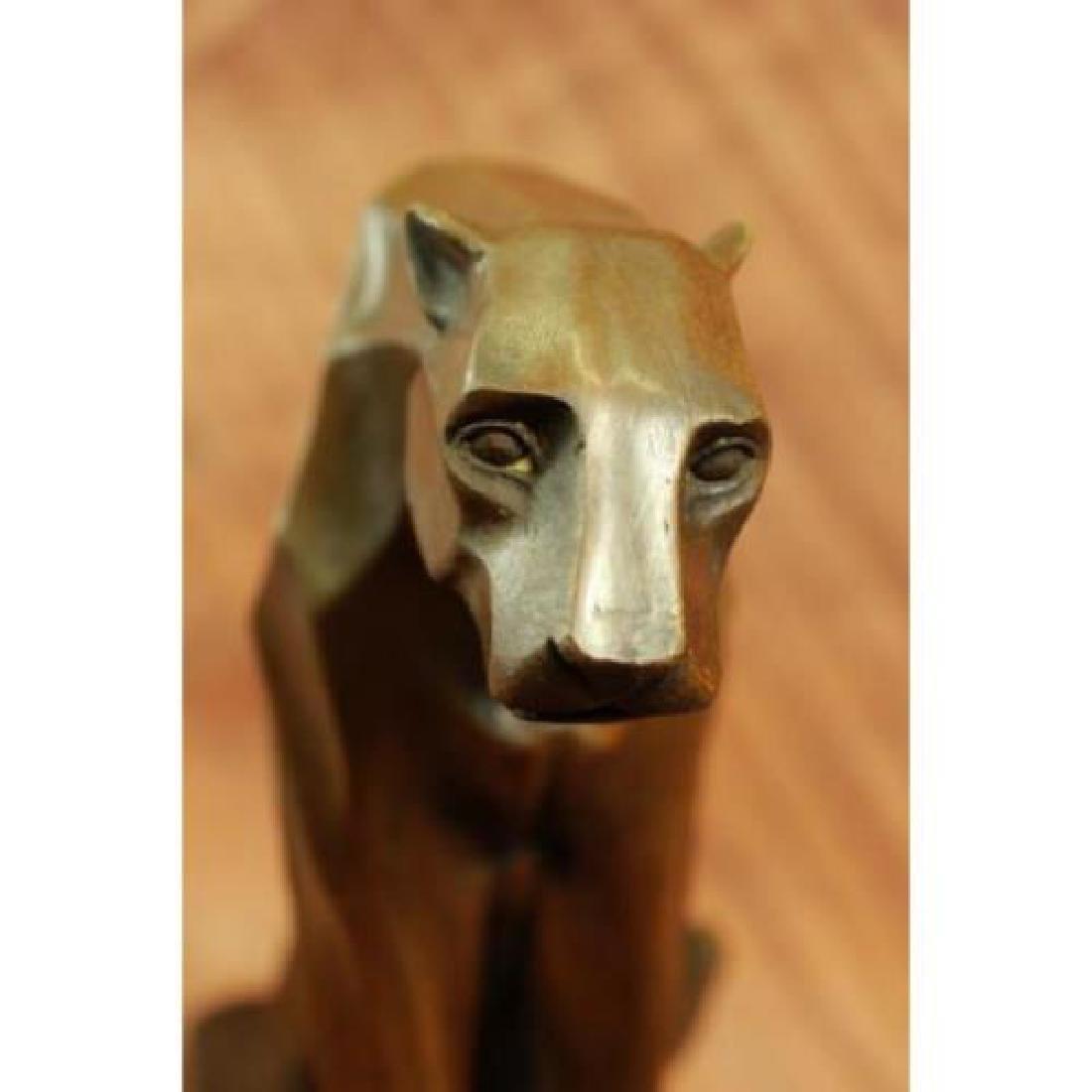 Hot Cast Cougar Bronze Sculpture - 4