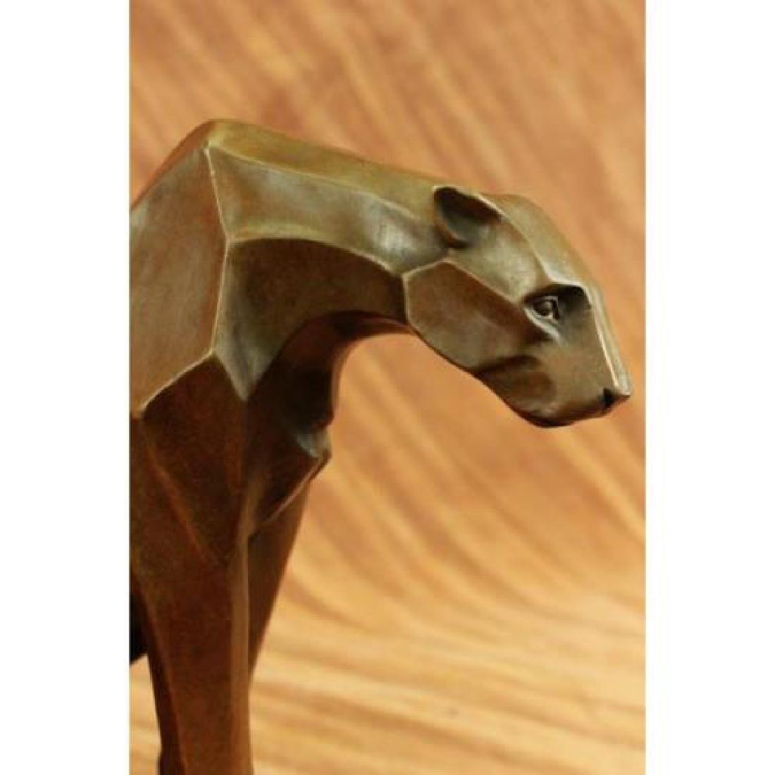 Hot Cast Cougar Bronze Sculpture - 5