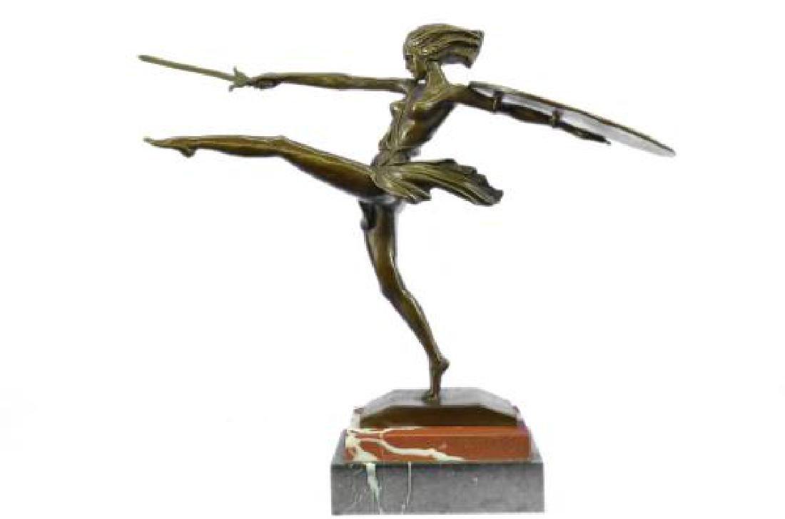 Amazon Art Deco Bronze Statue