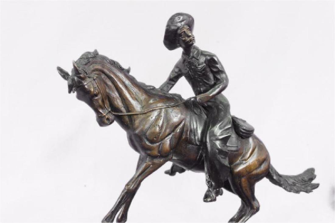 Bronze Sculpture on Marble Base Figurine