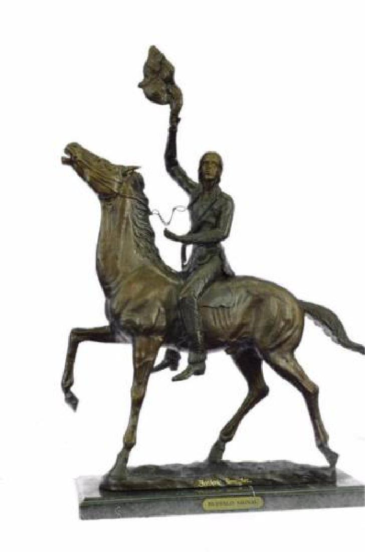 Old West Indians Bronze Sculpture