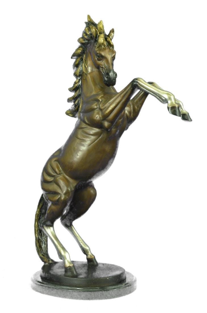 Muscular Toned Horse Bronze Sculpture