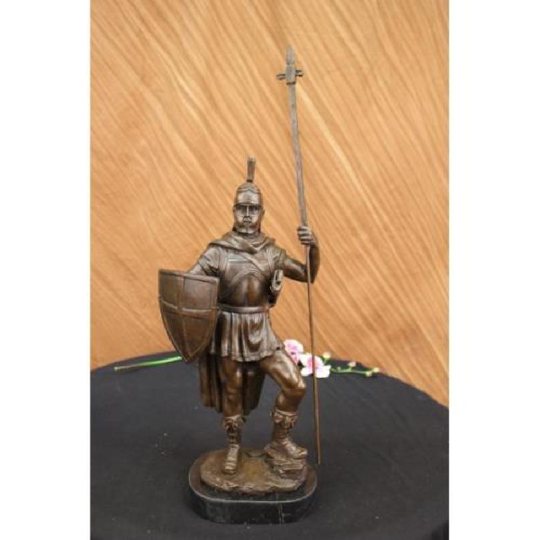 Roman Warrior with Armor Bronze Sculpture