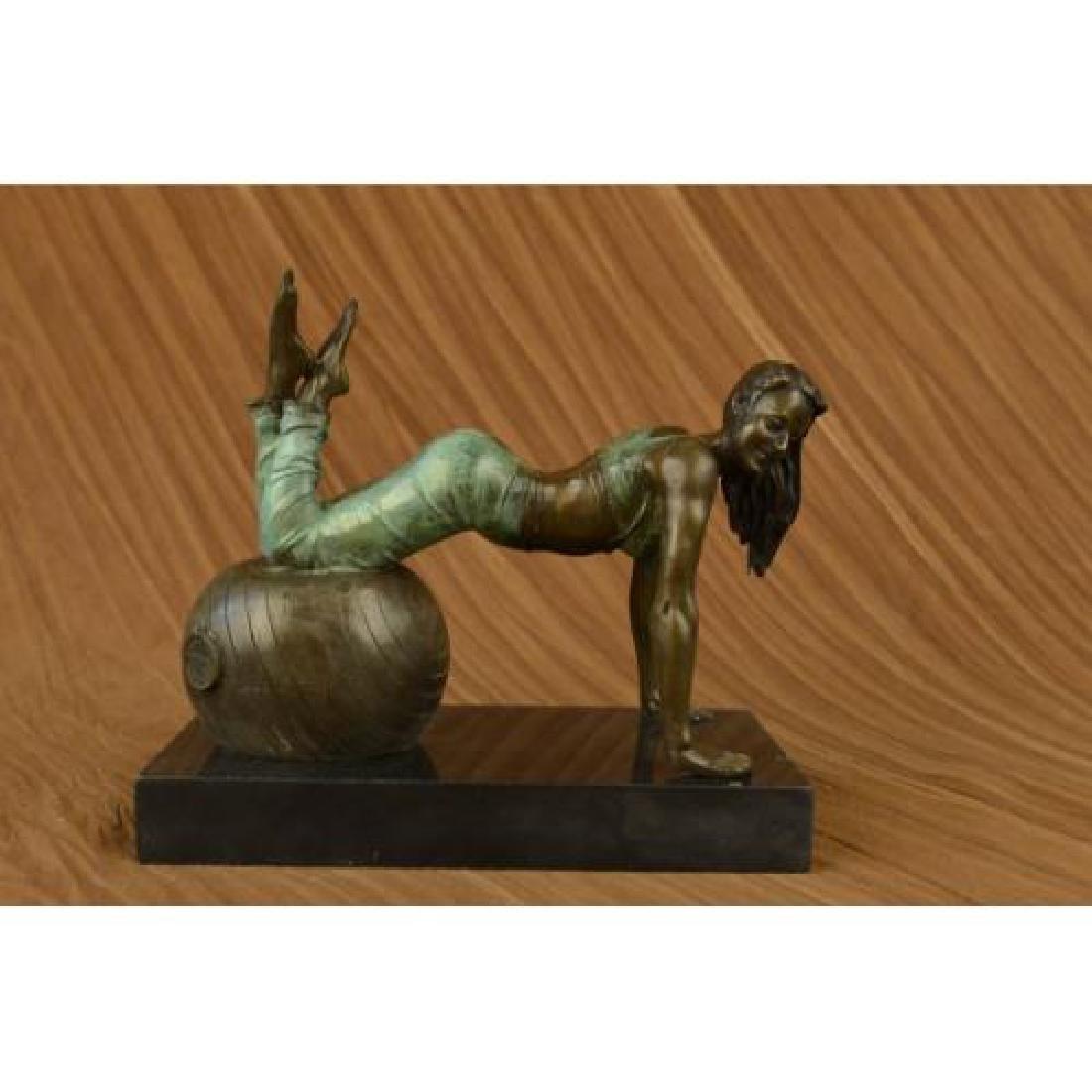 Exotic Stripper Nude Bronze Sculpture