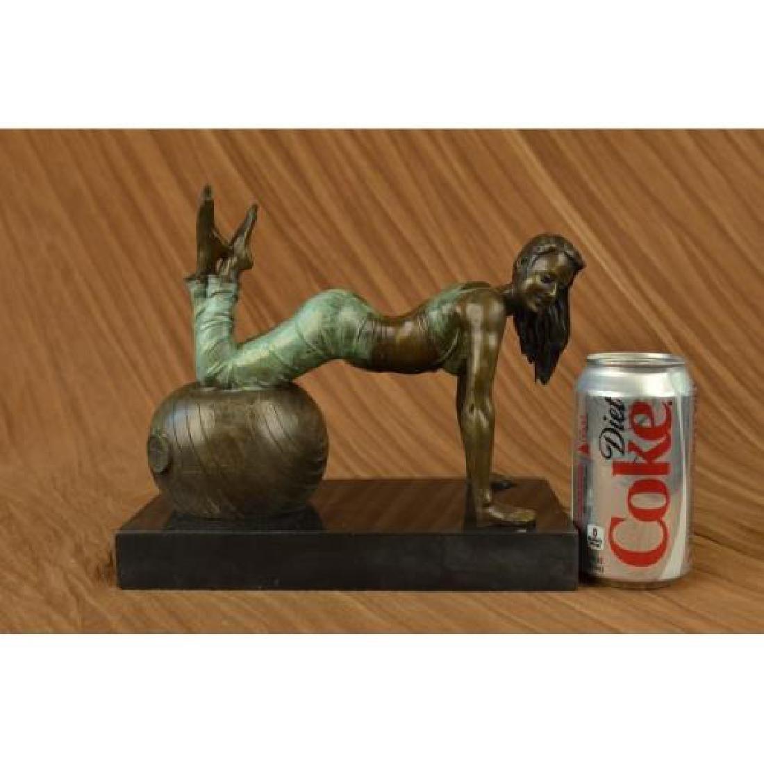 Exotic Stripper Nude Bronze Sculpture - 2