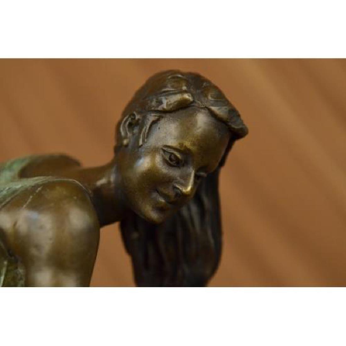 Exotic Stripper Nude Bronze Sculpture - 5
