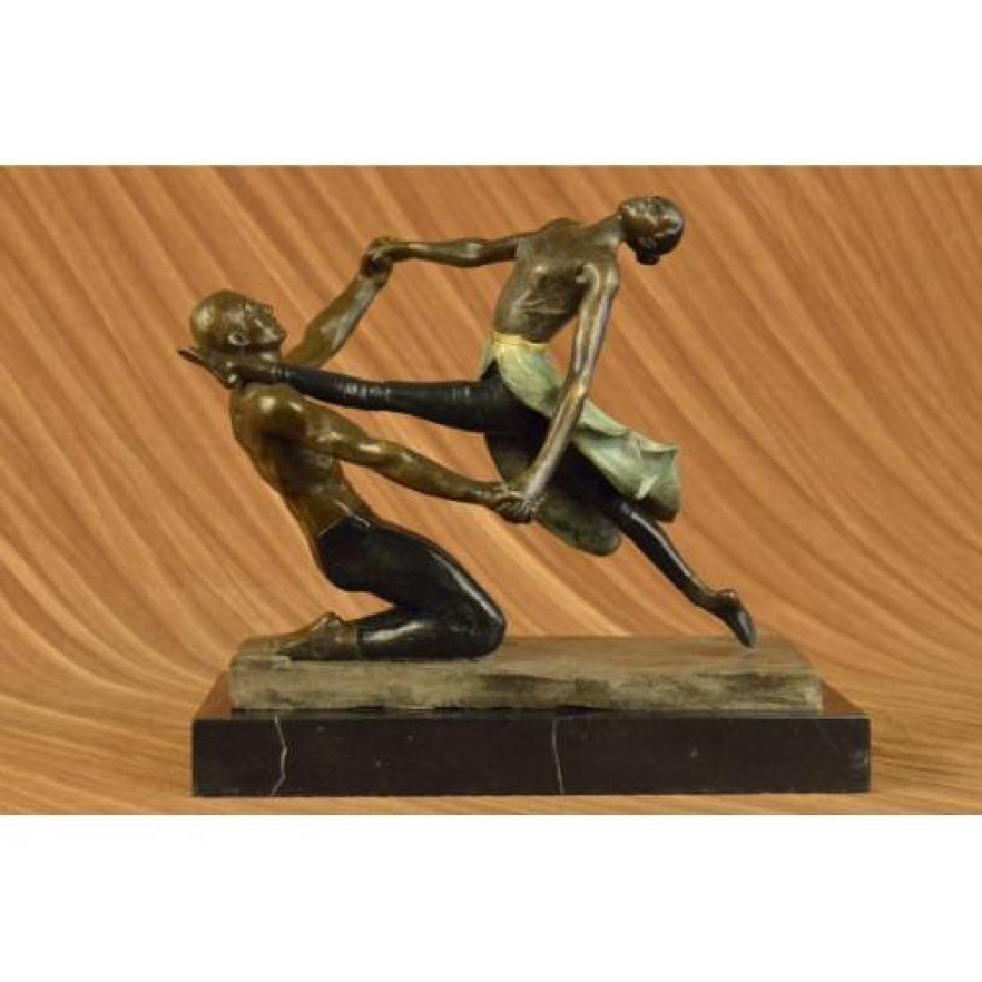 Ballerina Dance Bronze Statue on Marble Base Sculpture