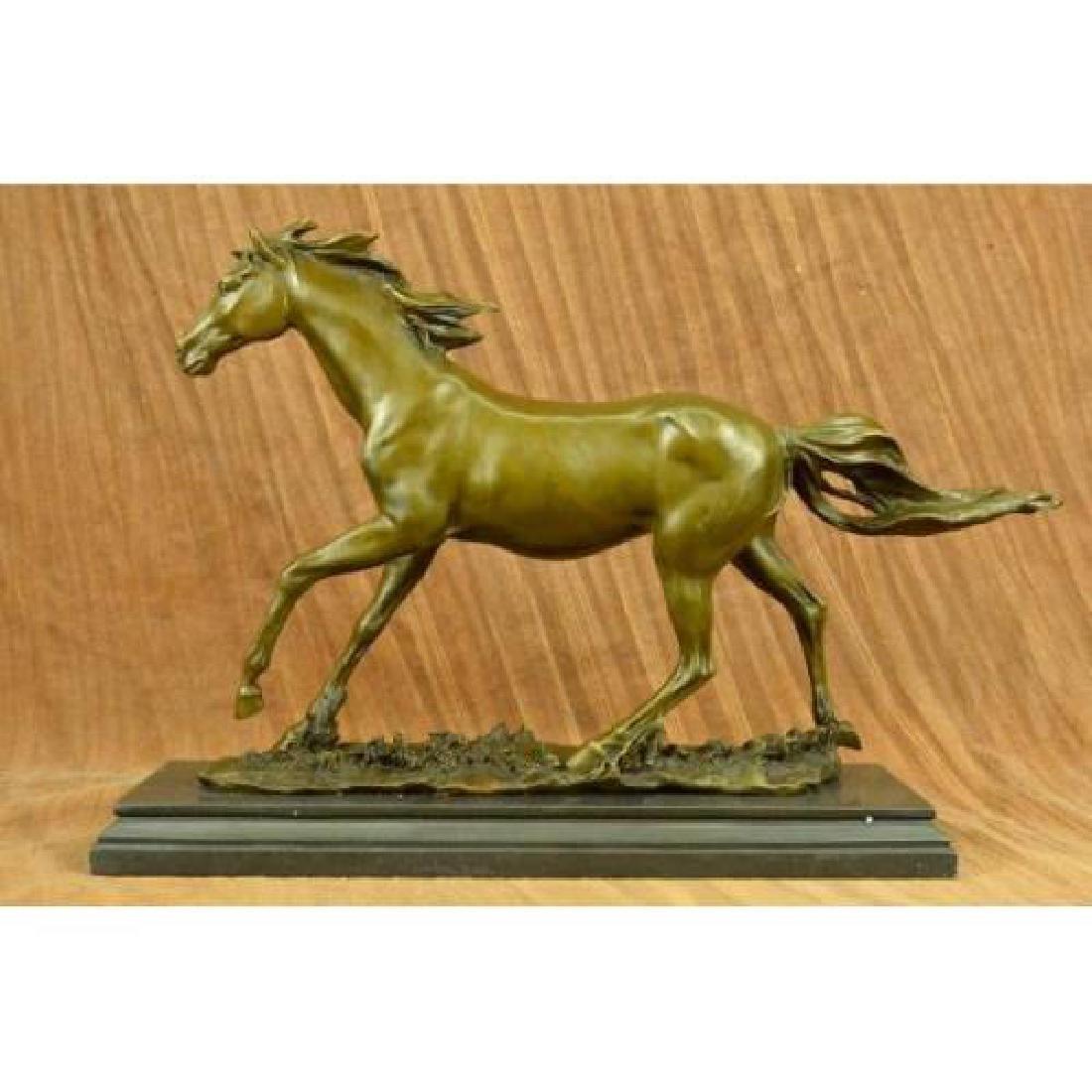 Thoroughbred Horse Equestrian Bronze Statue