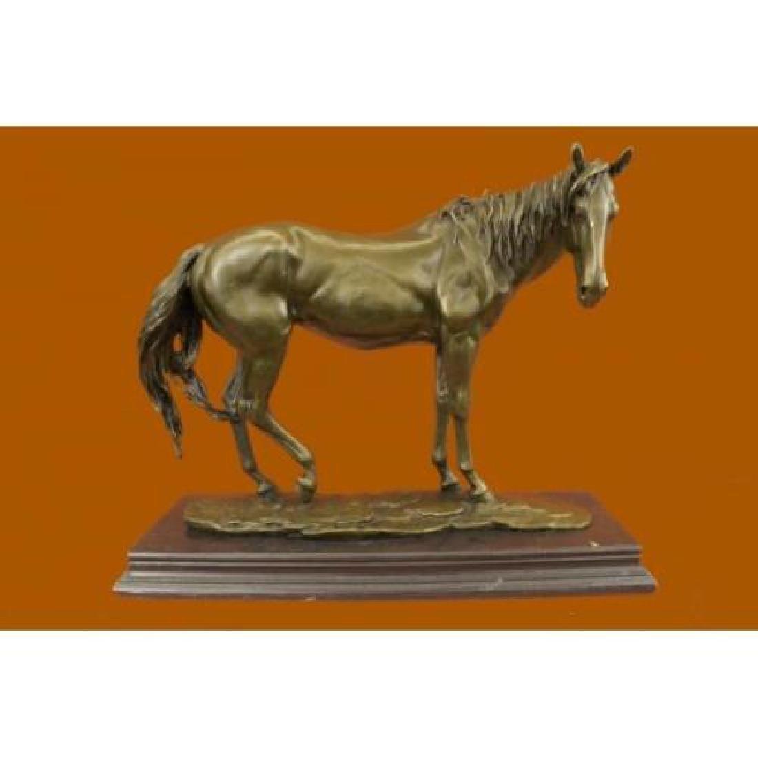 Racing Horse Trophy Bronze Statue