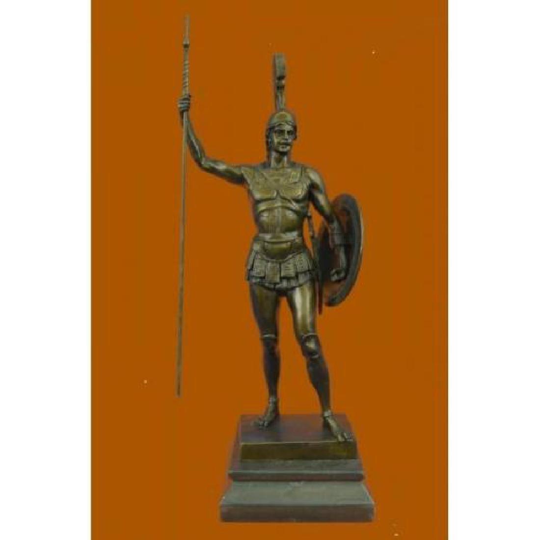 Achilles in Hoplite Uniform Bronze Sculpture