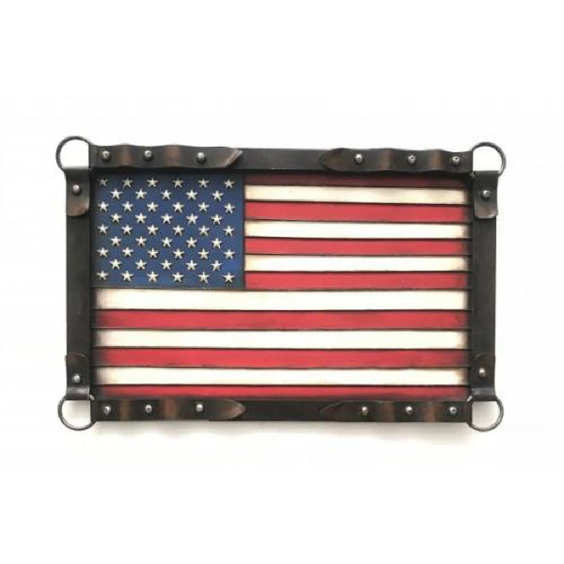 Effect American Flag Wall Mount Cold Cast Bronze