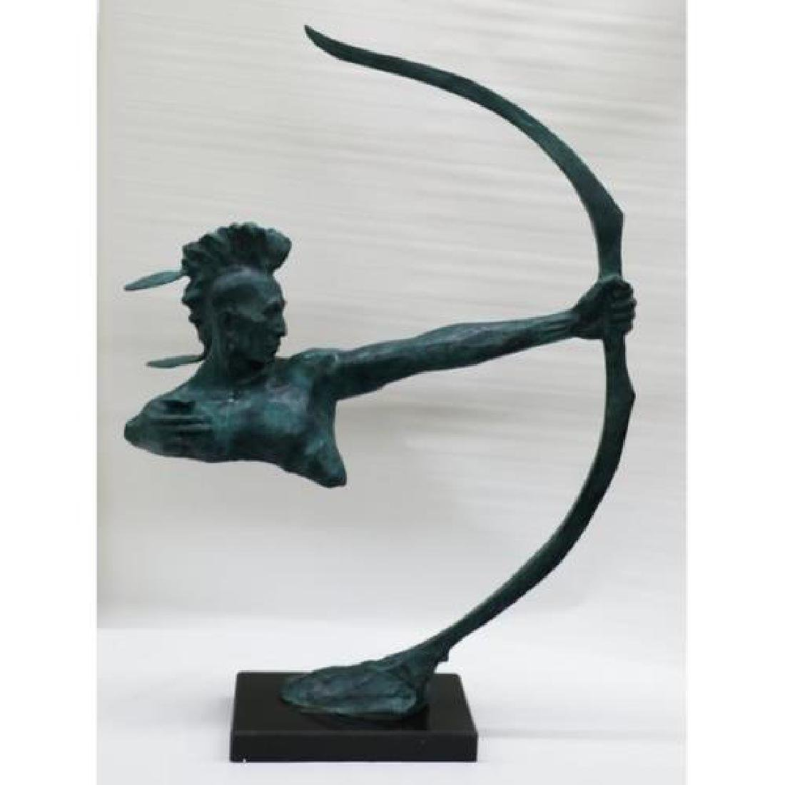 Indian Archer Bronze Sculpture