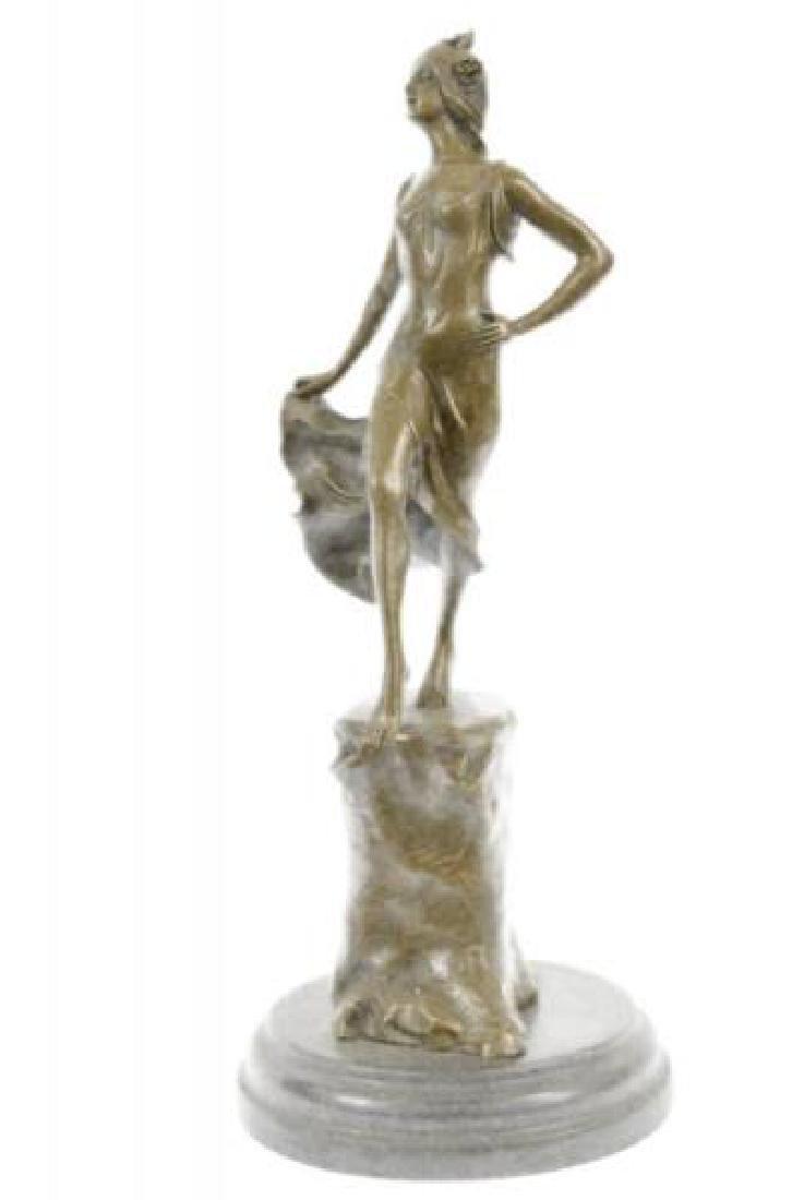 Graceful Fairly Like Dancer Bronze Figurine