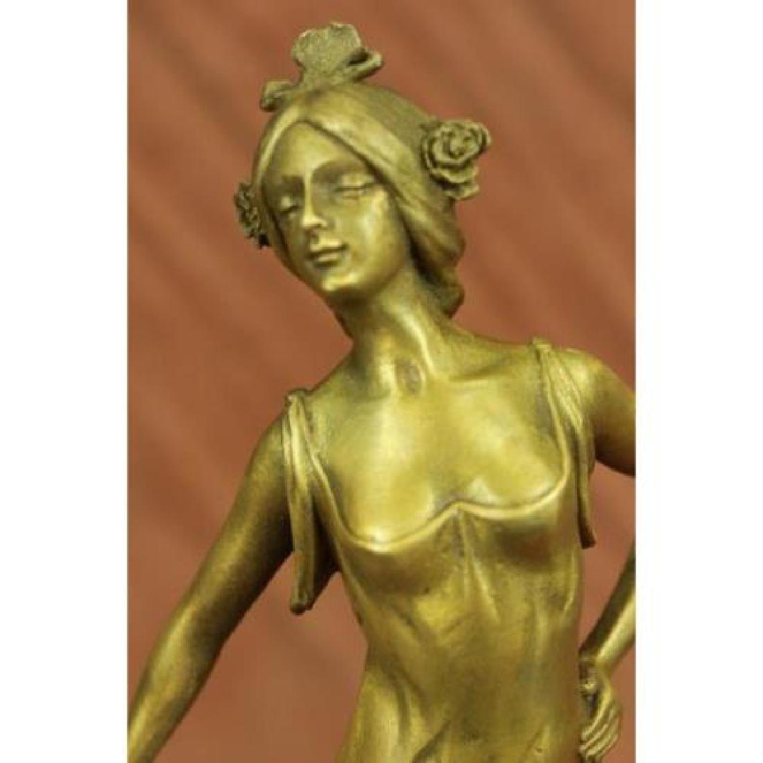 Gold Patina Dancer Bronze Sculpture
