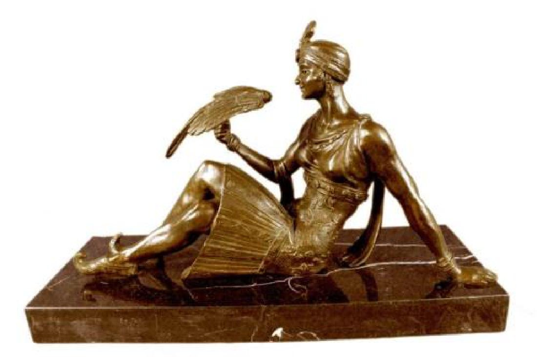 French Art Deco Style Female Dancer Bronze Sculpture