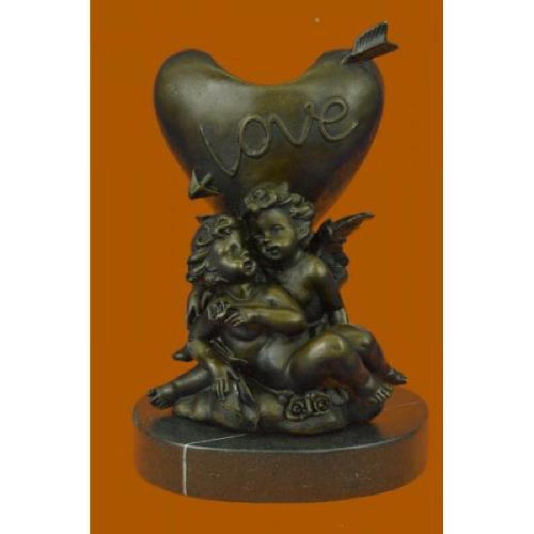 Be My Valentine Candle Holder Bronze Statue