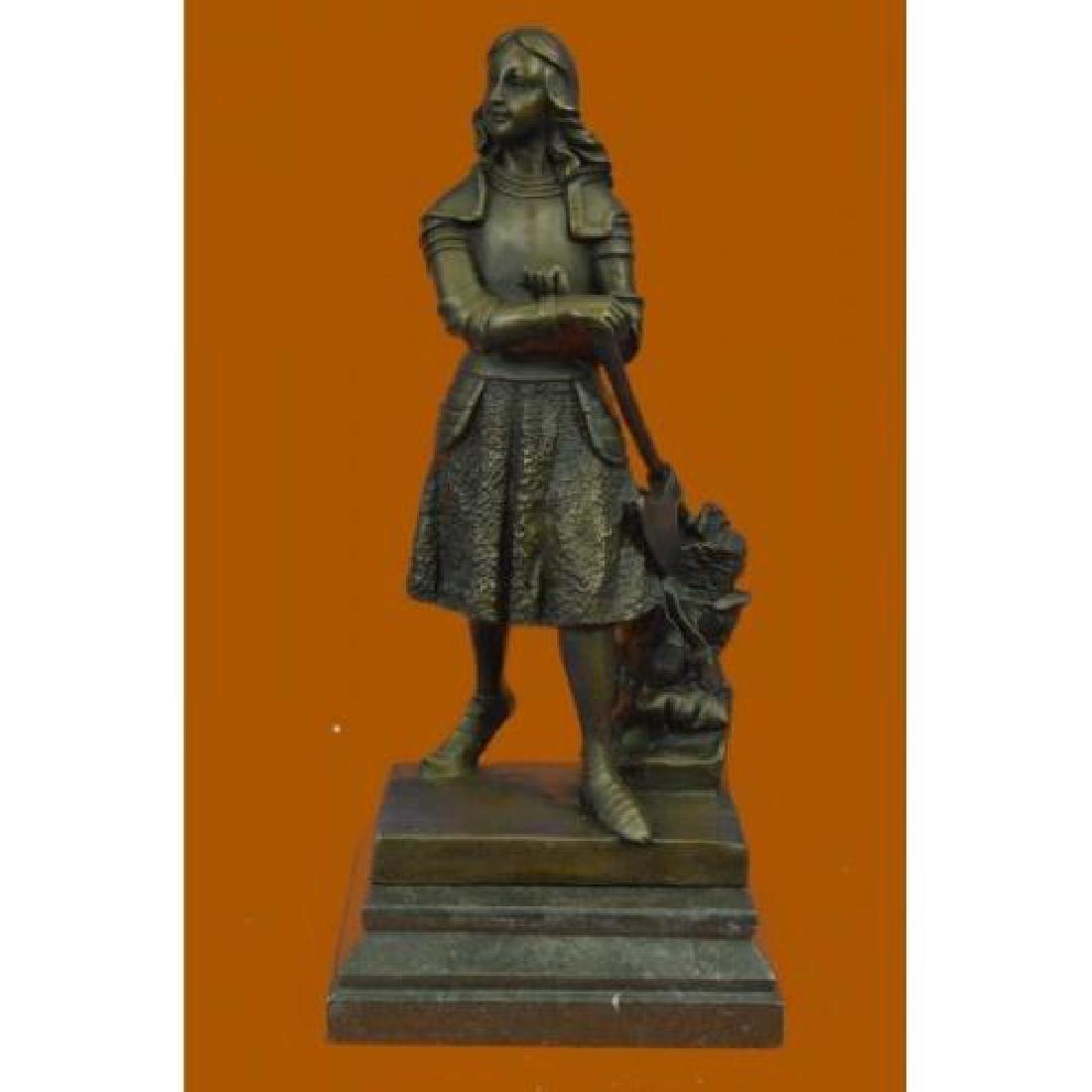 Roman Warrior Woman Bronze Sculpture