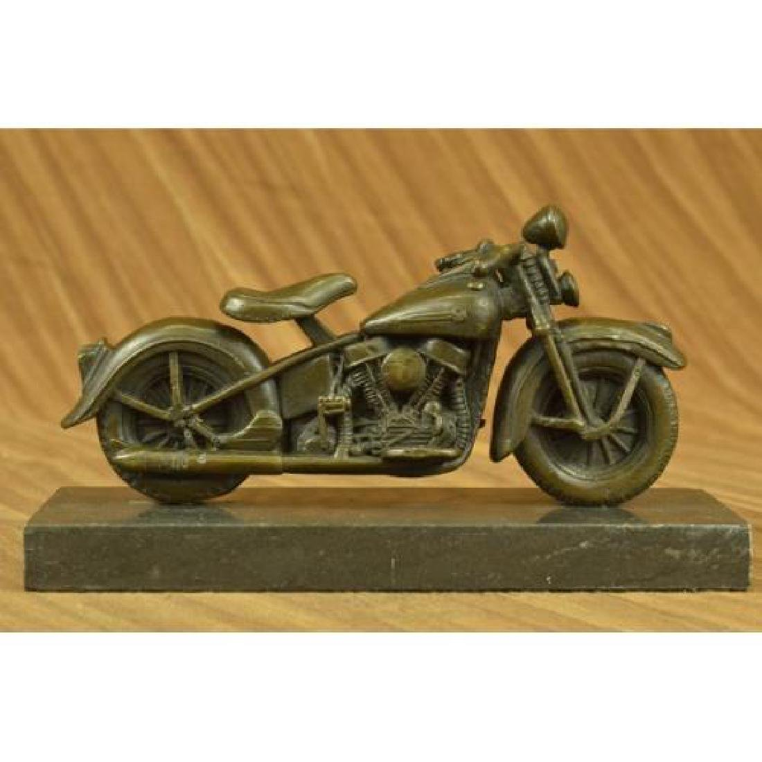 Harley Davidson Motorcycle Bronze Sculpture