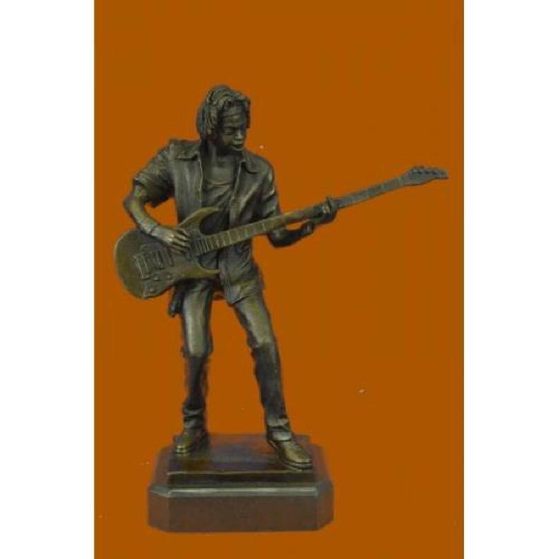 Rick James Guitar Player Bronze Sculpture