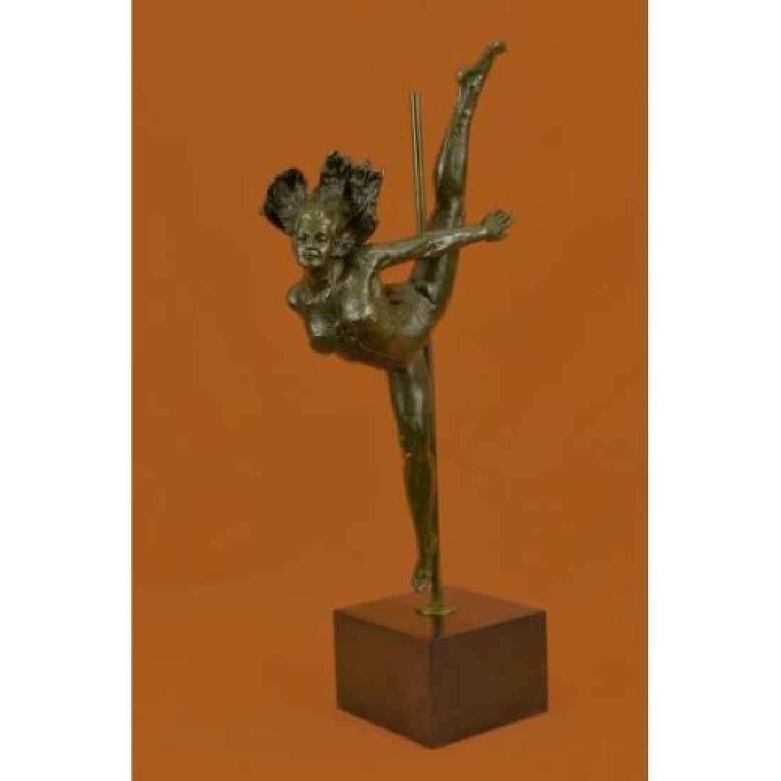 Ballerina Dancer Bronze Sculpture on Marble Base Statue