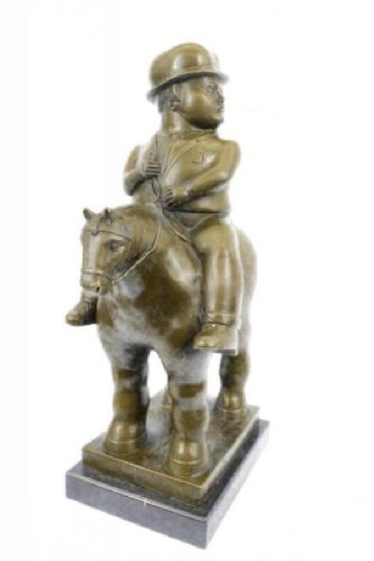 Man on Horse Modern Art Bronze Figurine