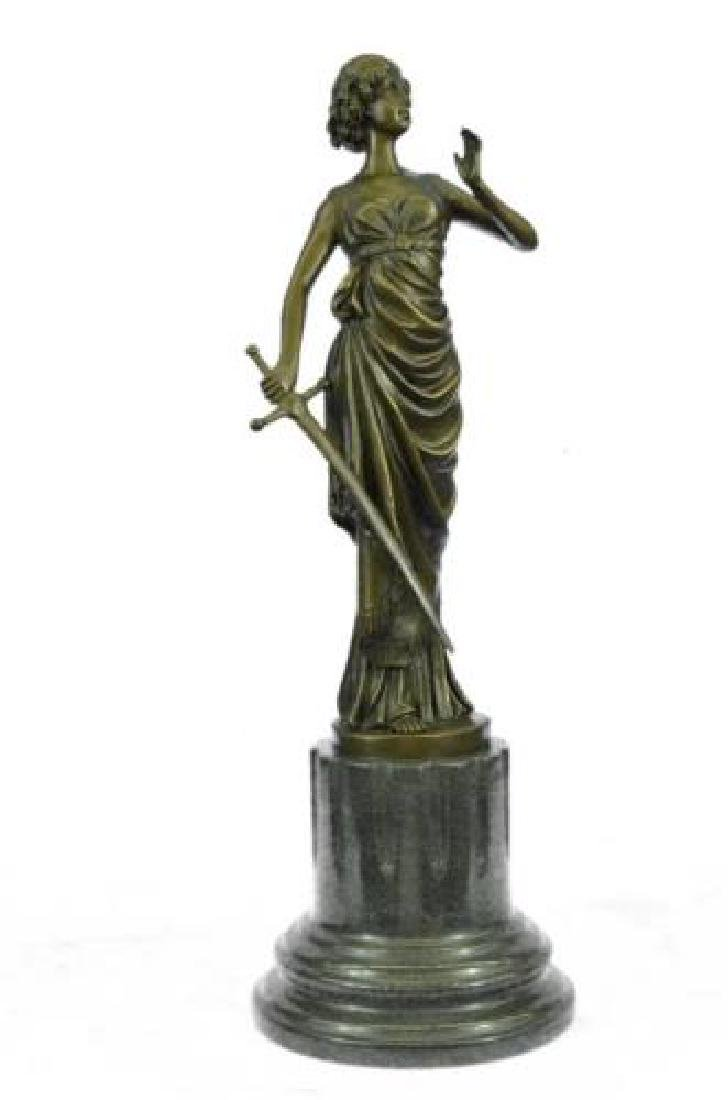 Roman Greek Warrior Bronze Statue