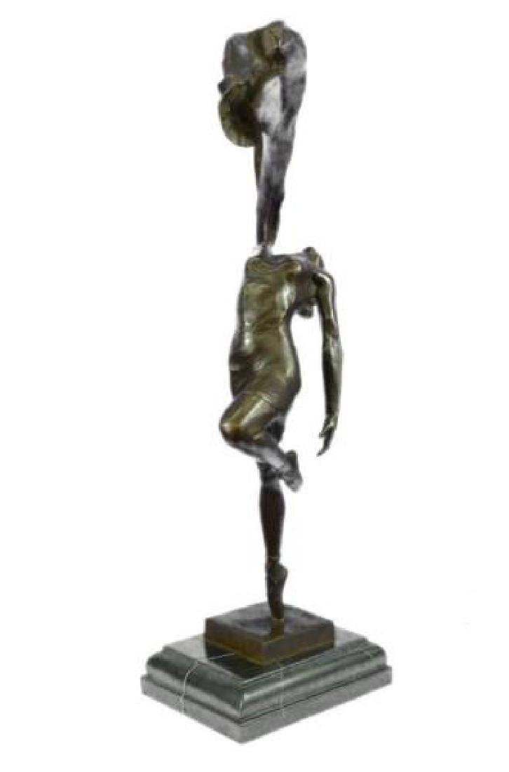 Art Deco Ballerina Dancer Bronze Sculpture