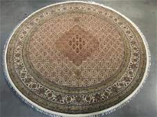 FINE HANDKNOTTED PERSIAN SILK AND WOOL  TABRIZ RUG 6