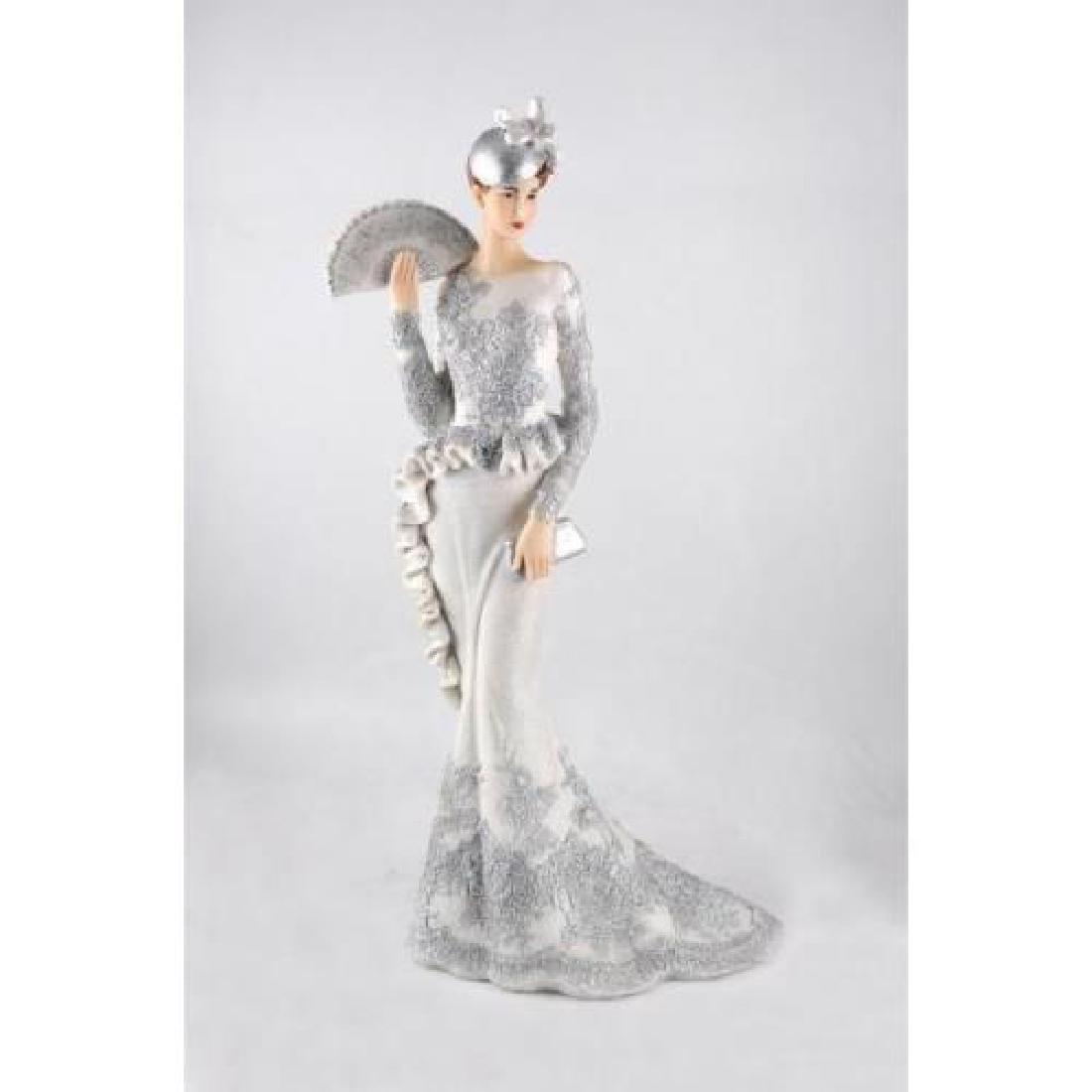 Wedding Figurine Newlyweds Poly resin Cold Cast Bronze