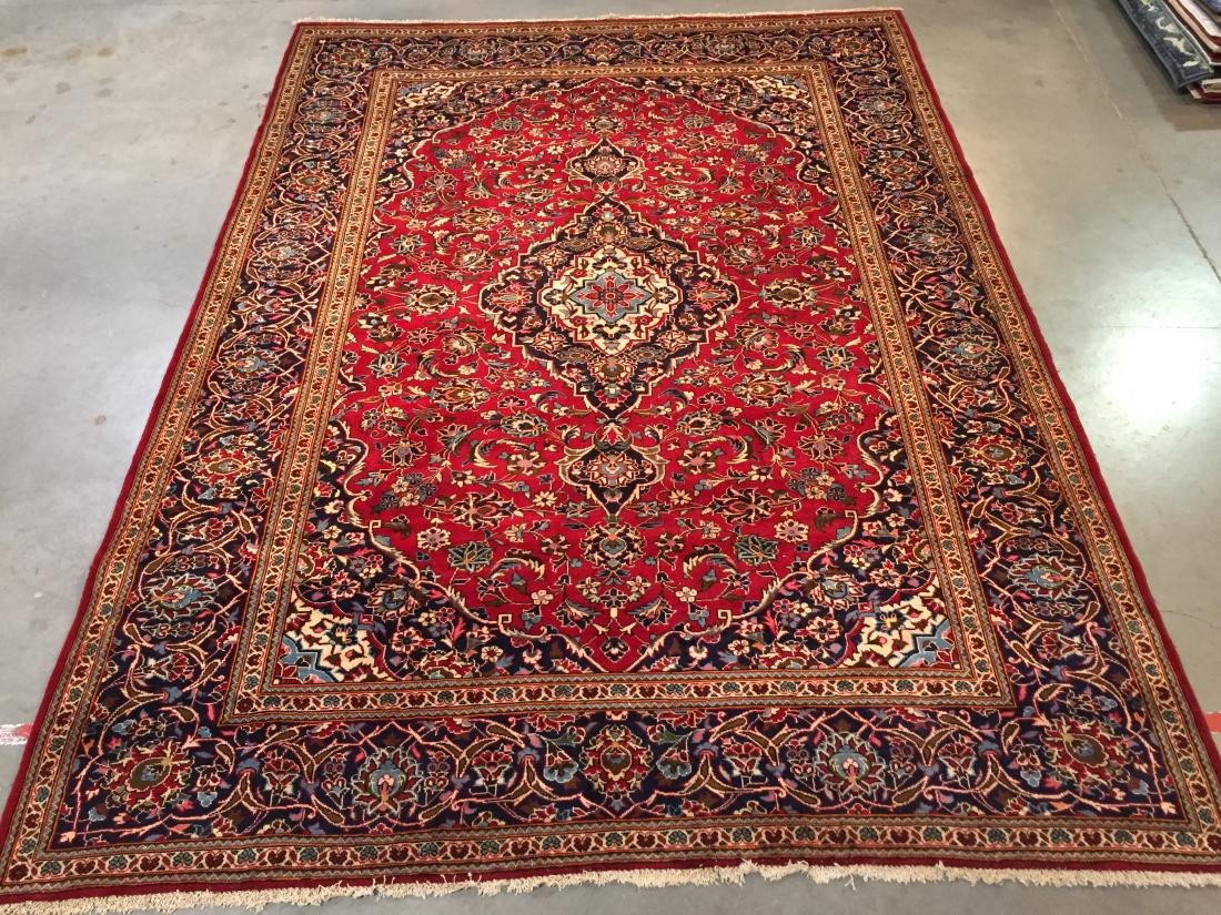 """AUTHENTIC PERSIAN KASHAN RUG  7'.9""""X11'"""