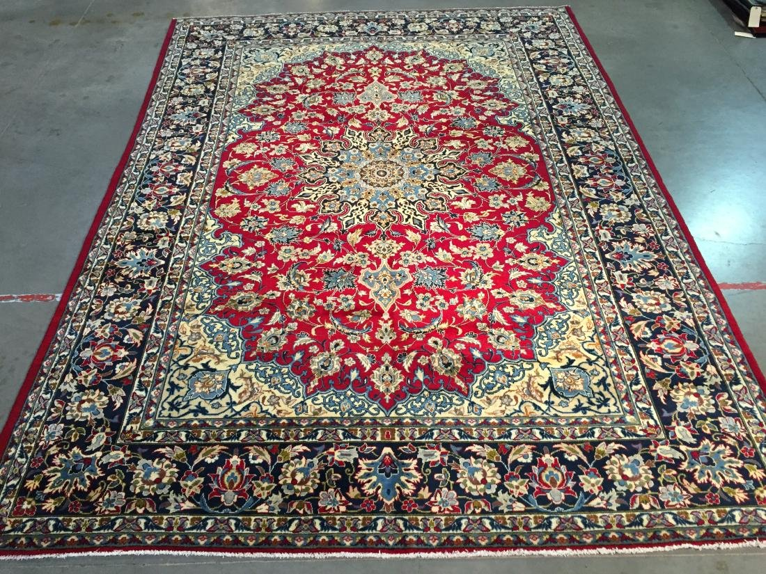 """EXQUISITE AUTHENTIC PERSIAN ISFAHAN RUG 9'.8""""X13'.0"""""""